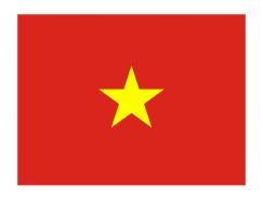 越南國旗矢量圖