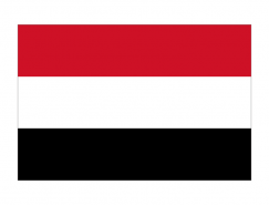 也門國旗矢量圖