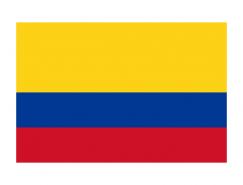 哥伦比亚国旗矢量图