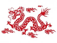 中国龙矢量素材