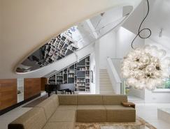 时尚的现代复式阁楼公寓设计
