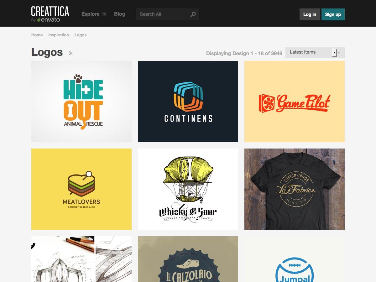 Logos on Creattica