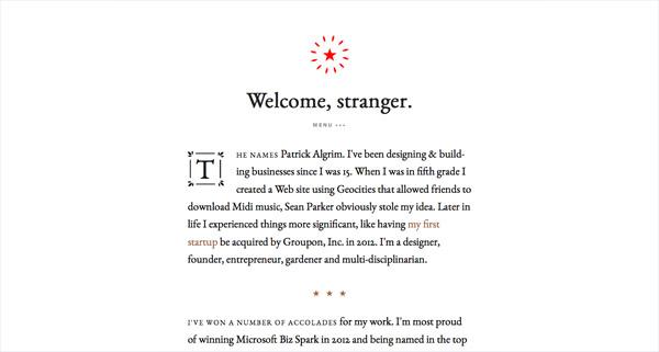 20个国外极简网页设计欣赏