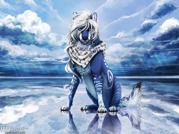whiluna幻想动物插画欣赏