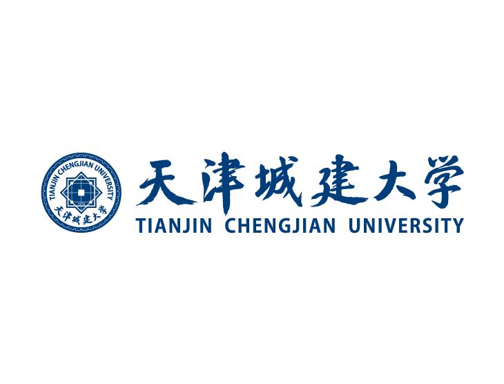 大学校徽系列 天津城建大学标志矢量图