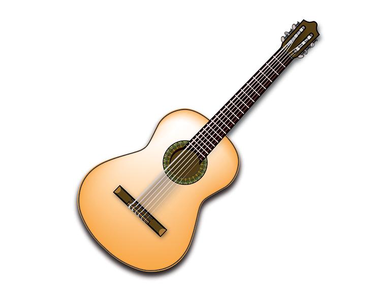 西班牙吉他矢量素材