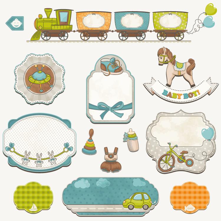 卡通,可爱火车,气球,蝴蝶结