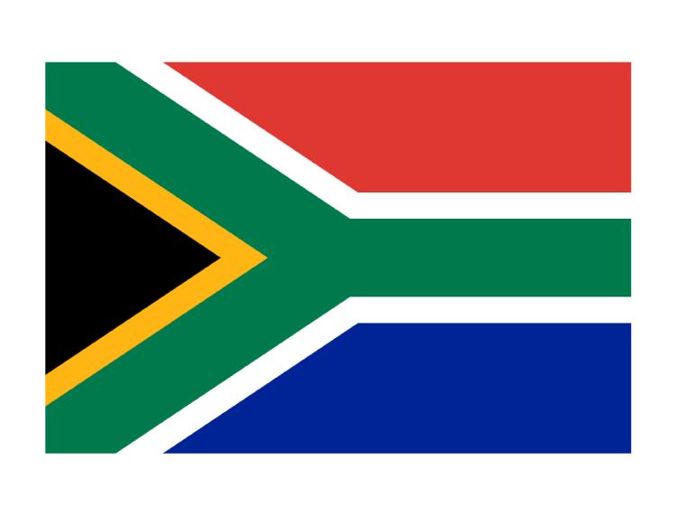 南非国旗矢量图