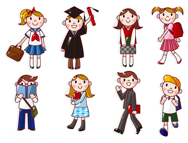 中学生卡通人物