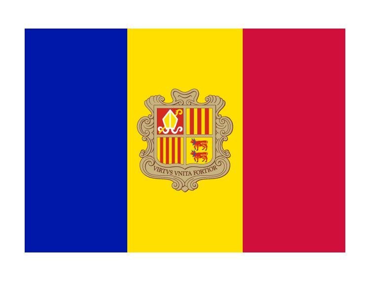安道尔国旗矢量图