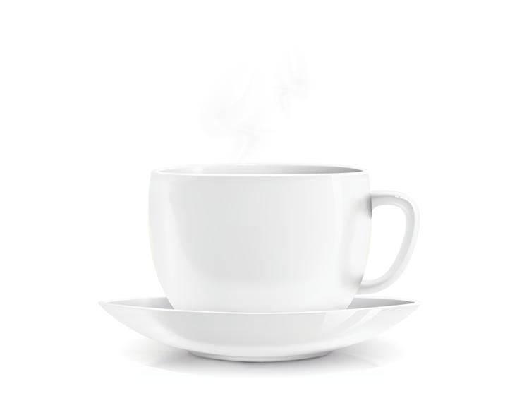白色咖啡杯矢量素材