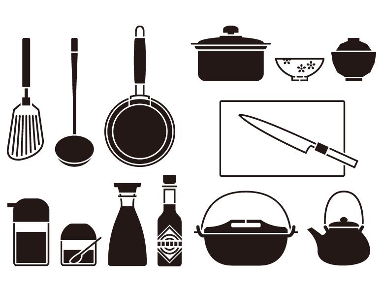 厨房用品图标矢量素材