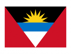 安提瓜和巴布达国旗矢量图