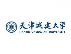大学校徽系列:天津城建大学标志矢量图