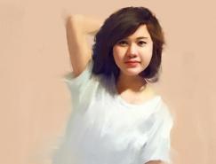 越南Pham Quang Viet肖像插画