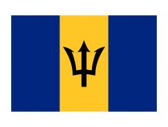 巴巴多斯国旗矢量图