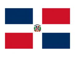 多米尼加國旗矢量圖