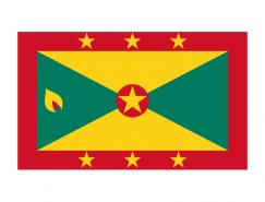 格林纳达国旗矢量图