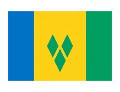 圣文森特和格林纳丁斯国旗矢量图