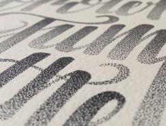 Xavier Casalta惊人的点状手绘文字澳门金沙真人
