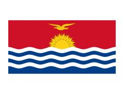 基里巴斯国旗矢量图