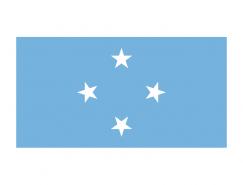 密克罗尼西亚国旗矢量图