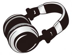 头戴式耳机矢量素材
