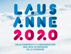 瑞士洛桑申办2020年冬季青奥会标识