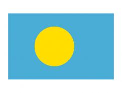 帕劳国旗矢量图