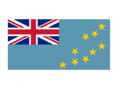 图瓦卢国旗矢量图