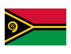 瓦努阿图国旗矢量图