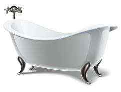 漂亮的浴缸矢量素材