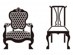 2款古董椅矢量素材
