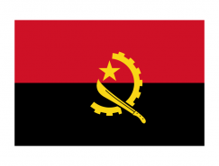 安哥拉國旗矢量圖