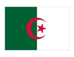 阿爾及利亞國旗矢量圖