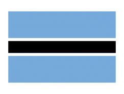 博茨瓦納國旗矢量圖