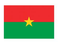 布基納法索國旗矢量圖
