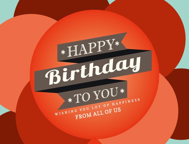 氣球背景生日快樂海報矢量素材