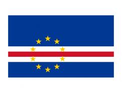 佛得角國旗矢量圖