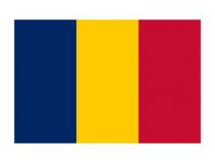 乍得国旗矢量图