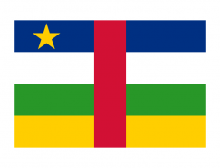 中非共和國國旗矢量圖