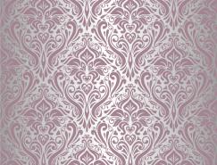 紫色花紋裝飾圖案背景矢量素材