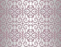 紫色花纹装饰图案背景矢量素材(2)