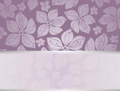 花朵裝飾圖案背景矢量素材
