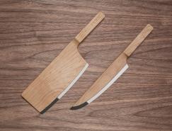 Maple Set Knives创意木质厨房刀具