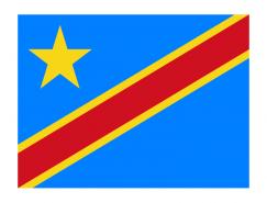 刚果民主共和国国旗矢量图