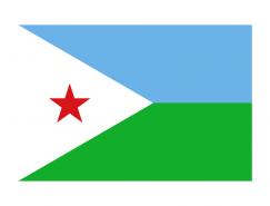 吉布提国旗矢量图