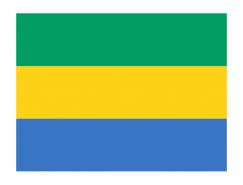 加蓬国旗矢量图