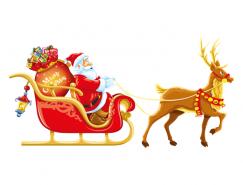 聖誕老人和馴鹿矢量素材