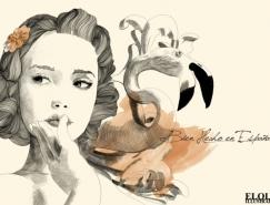 Alfonso Elola复古风格时尚插画欣赏
